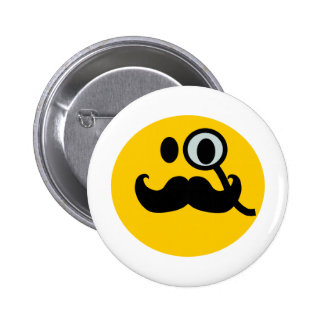 Smiley del monóculo y del bigote (backgrnd adaptab pins