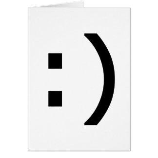 Smiley del ordenador tarjeta de felicitación
