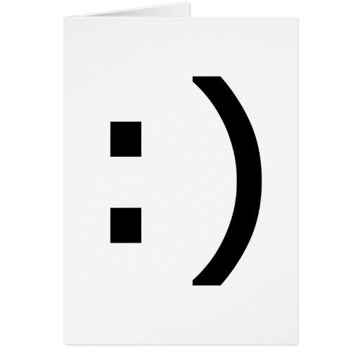 Smiley del ordenador tarjetón