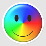 smiley del orgullo gay 3D Pegatina Redonda