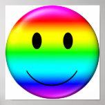 smiley del orgullo gay 3D Póster