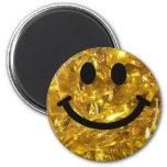 smiley del oro de la Brillante-mirada (gráfico del Imán De Frigorífico