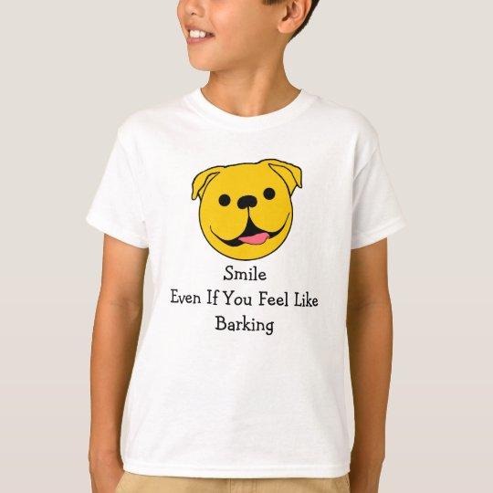 Smiley del perro playera