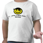 Smiley del pirata camiseta