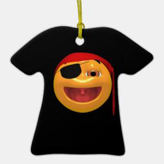 Smiley del pirata ornamentos de reyes