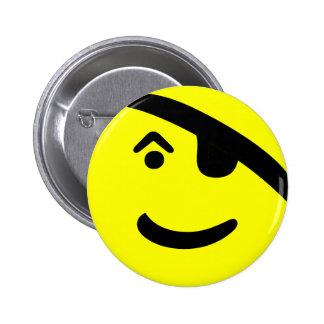Smiley del pirata pins