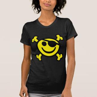Smiley del pirata camisetas