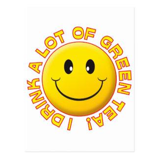Smiley del té verde postales