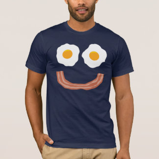 Smiley del tocino de los huevos playera