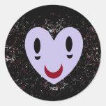Smiley del zombi etiquetas redondas