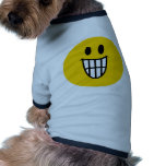 Smiley dentudo de la mueca camisa de perrito