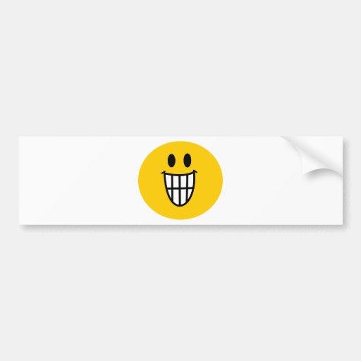 Smiley dentudo de la mueca etiqueta de parachoque
