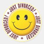 Smiley divorciado etiquetas