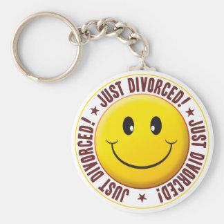 Smiley divorciado llaveros
