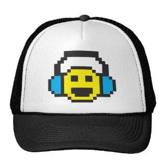 Smiley DJ del pixel Gorros