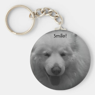 Smiley Dog Keychain