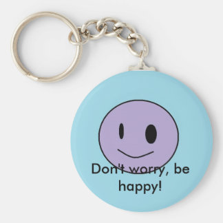 smiley, Don't worry, be happy! Keychain