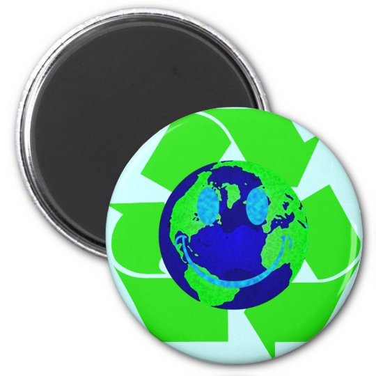 Smiley Earth Magnet