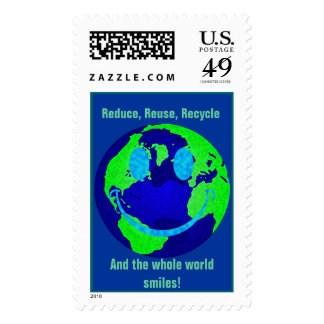 Smiley Earth Stamp