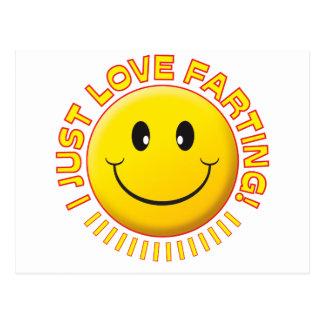 Smiley el Farting del amor Postales