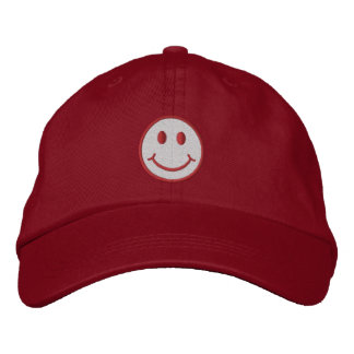 Smiley Embroidered Baseball Hat