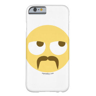 Smiley Emoji with cord beard furiously Barely There iPhone 6 Case