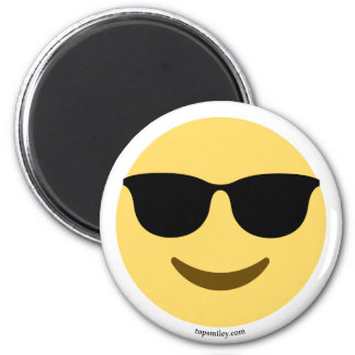 Smiley Emoji with sun glasses coolly Magnet