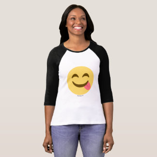 Smiley Emoji with tongue good appetite T-Shirt