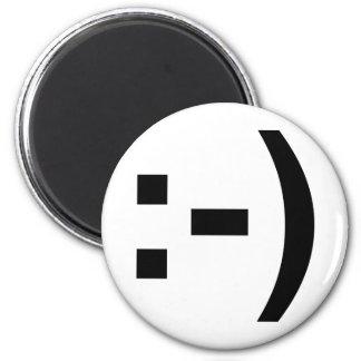 Smiley Emoticon 2 Inch Round Magnet
