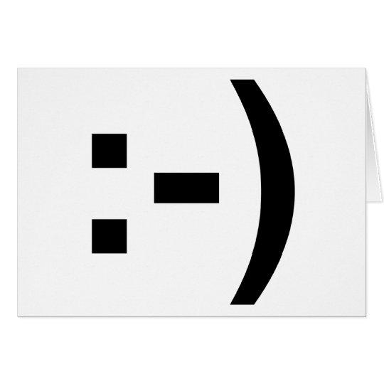 Smiley Emoticon Card