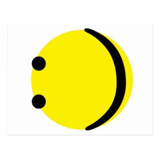 Smiley emotion postcard
