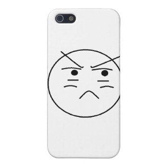Smiley enfadado iPhone 5 fundas