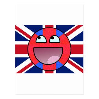 smiley england postcard