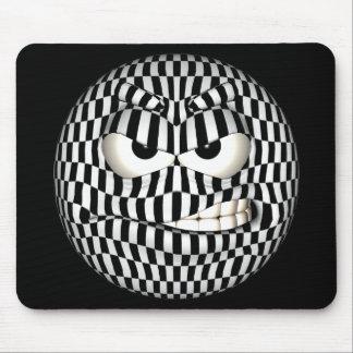 Smiley enojado divertido del Emoticon Tapetes De Ratones