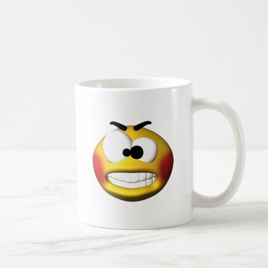 smiley enojado taza de café