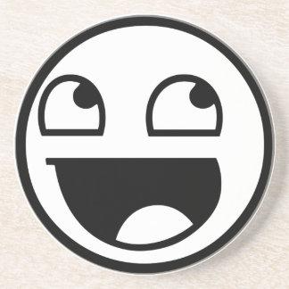 Smiley épico posavasos diseño