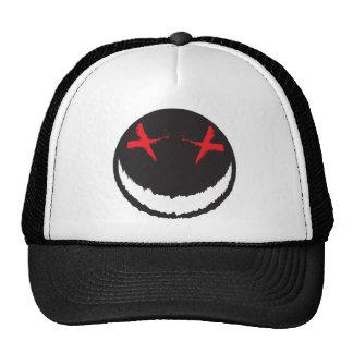 Smiley espeluznante gorras
