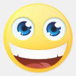 Smiley estándar pegatina redonda
