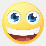 Smiley estándar pegatinas redondas