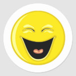 Smiley estupendo pegatina redonda