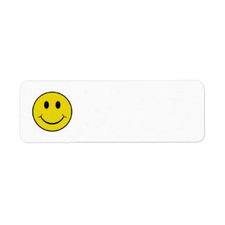 Smiley Etiqueta De Remite