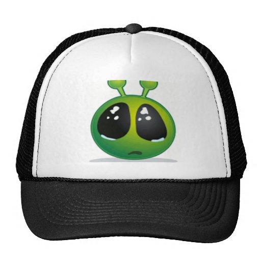 Smiley extranjero triste gorras