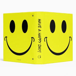 Smiley Face 3 Ring Binder