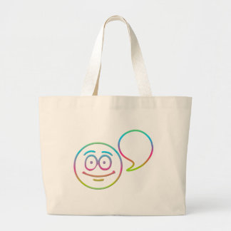 "Smiley Face - ""Add your own words"" Jumbo Tote Bag"