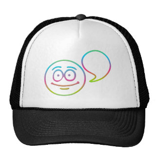 """Smiley Face - """"Add your own words"""" Trucker Hat"""