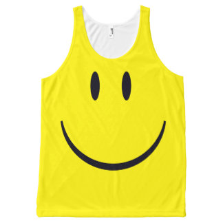 Smiley Face All-Over-Print Tank Top