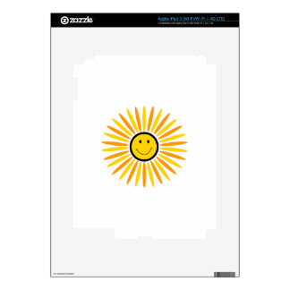 SMILEY FACE APPLIQUE SKINS FOR iPad 3
