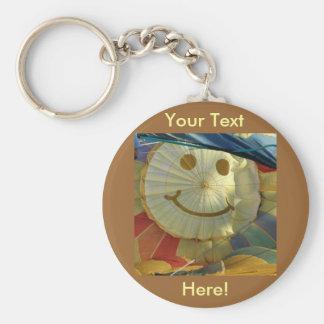 Smiley Face Balloon! Basic Round Button Keychain