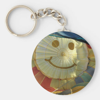 Smiley Face Balloon Key Chains