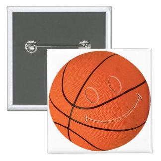 SMILEY FACE BASKETBALL BUTTON